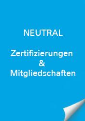 Neutral Zertifizierungen & Mitgliedschaft
